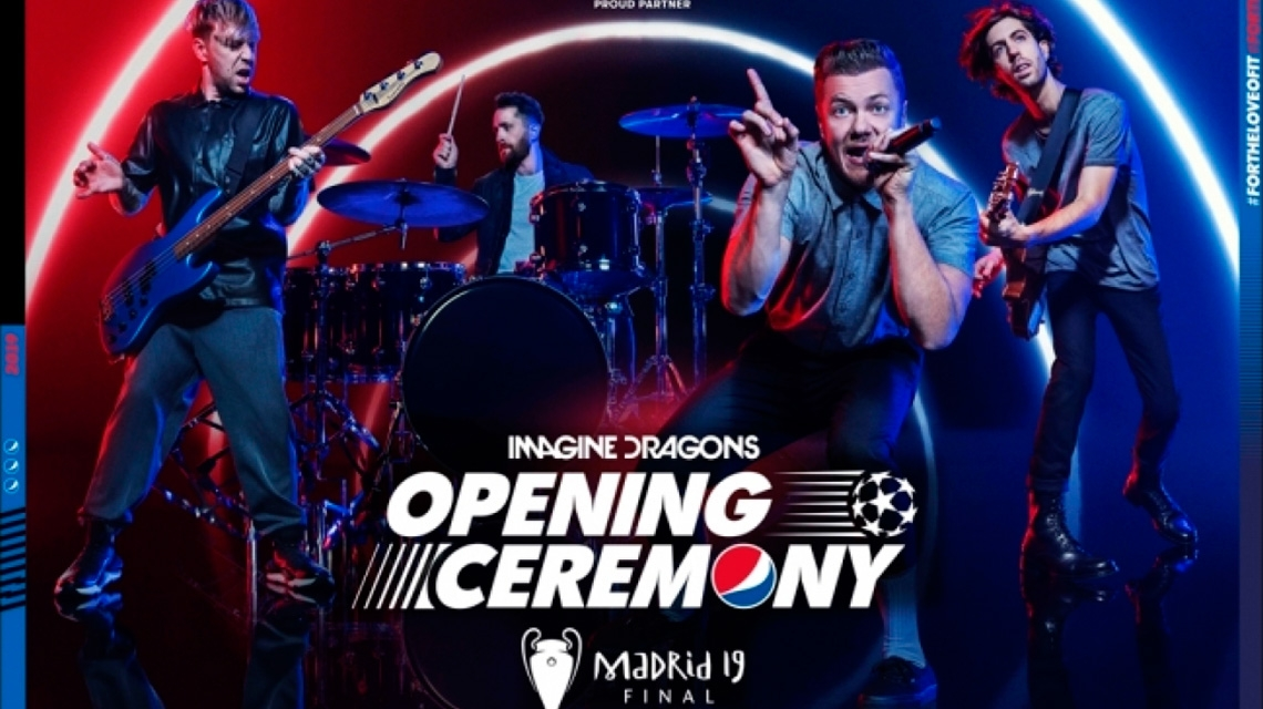 Imagine Dragons tocarán en la Final de la UEFA Champions League
