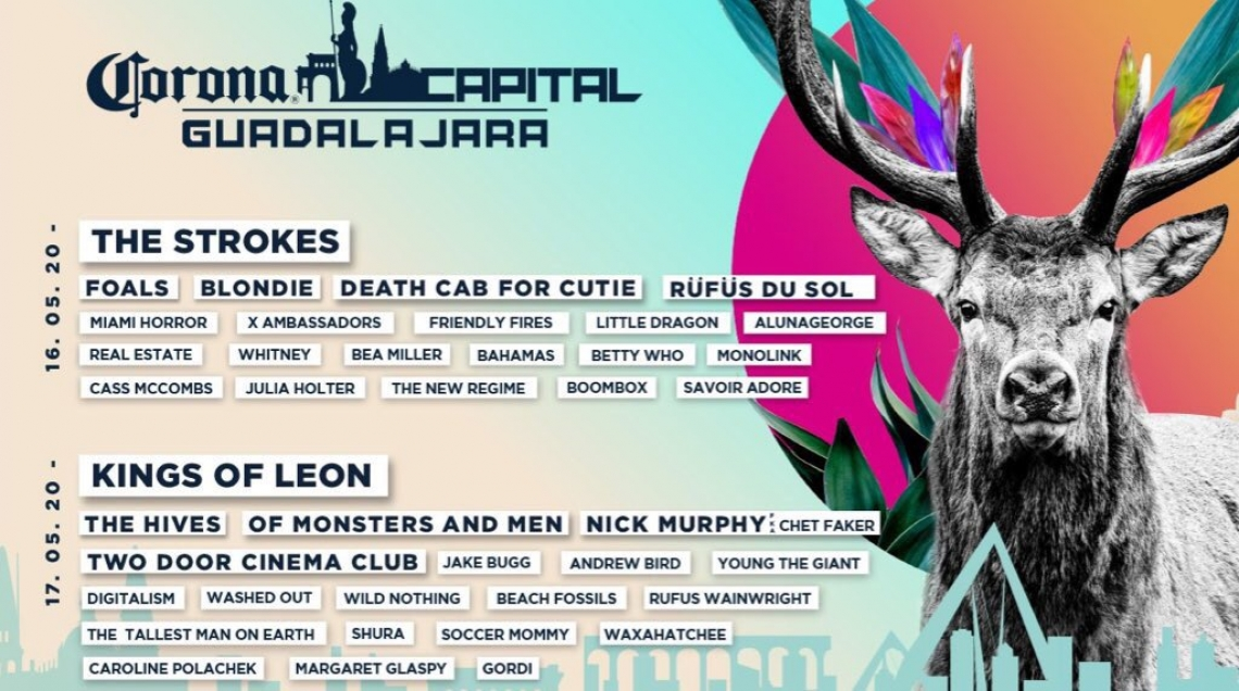 The Strokes y Blondie encabezarán Corona Capital Guadalajara 2020