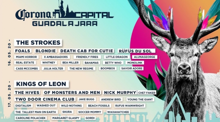 Corona Capital Guadalajara 2020 anunció su line up