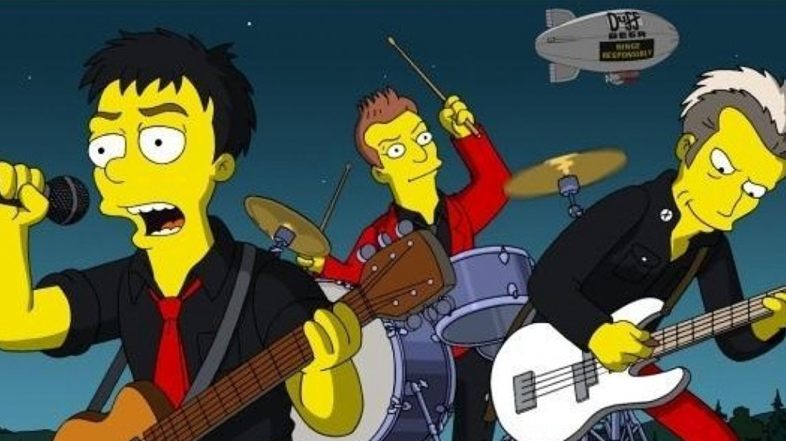 Green Day y el día que llegaron a The Simpsons