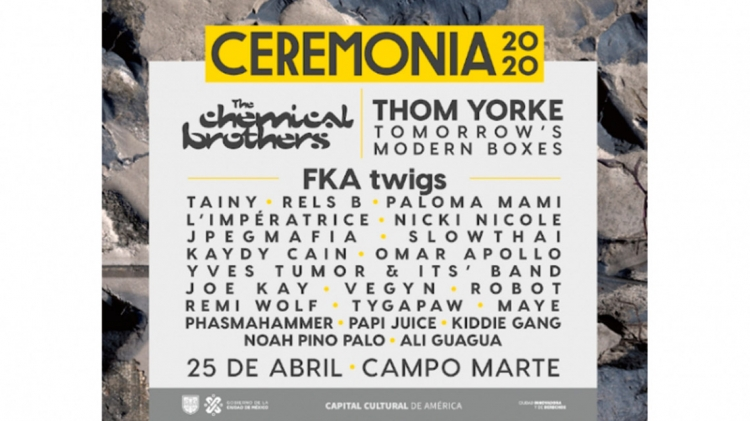 Thom Yorke y The Chemical Brothers encabezarán Ceremonia 2020